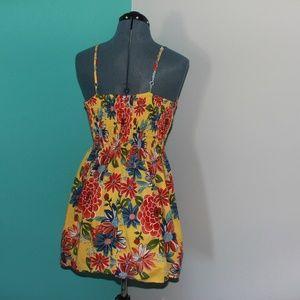 161347bdd6b0 Xhilaration Dresses - Tropical Summer Mini Dress Yellow Xhilaration